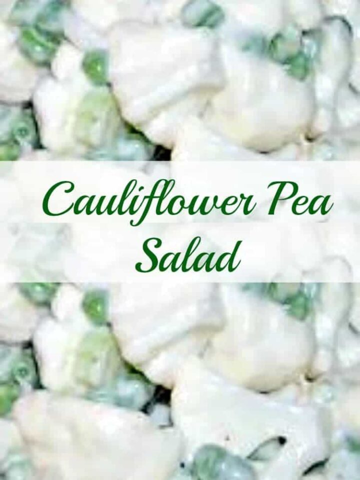 Cauliflower and Pea Salad. A very easy and popular salad and a perfect side dish to any meal!