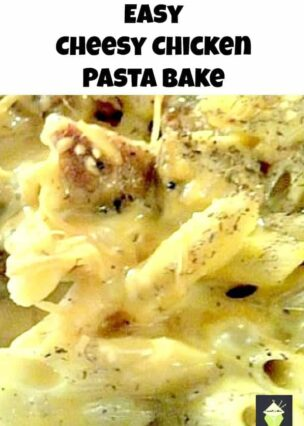 Easy Cheesy Chicken Pasta Bake Oh my! This is so good! A very easy and delicious casserole