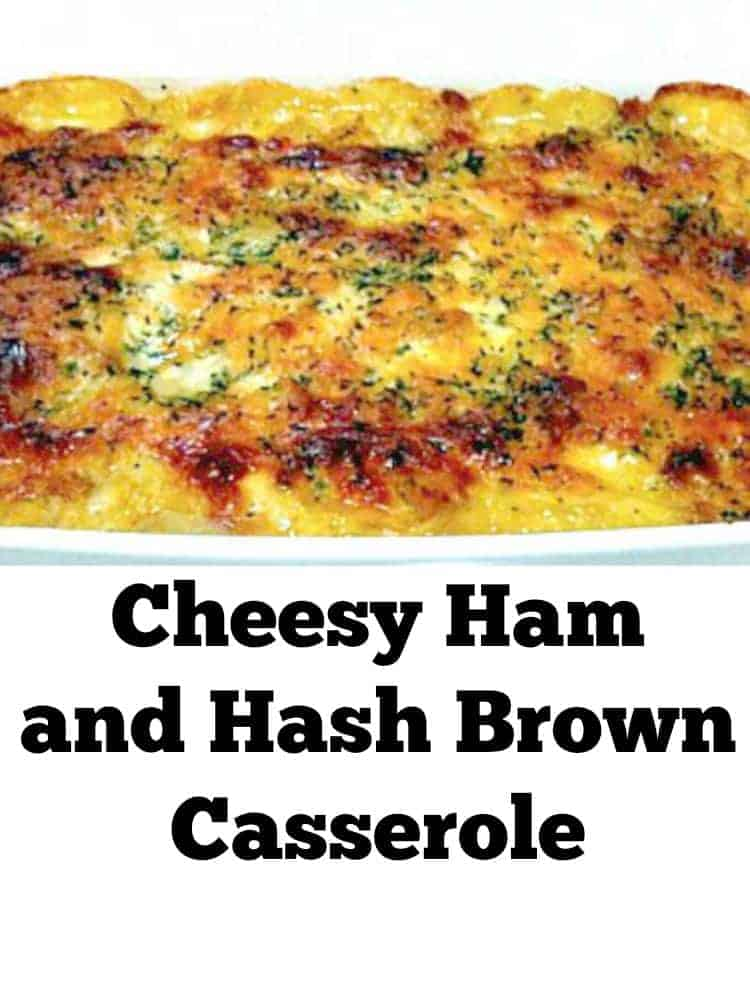 Cheesy Ham and Hash Brown Bake. A nice easy 'Go To' recipe, budget and freezer friendly too!