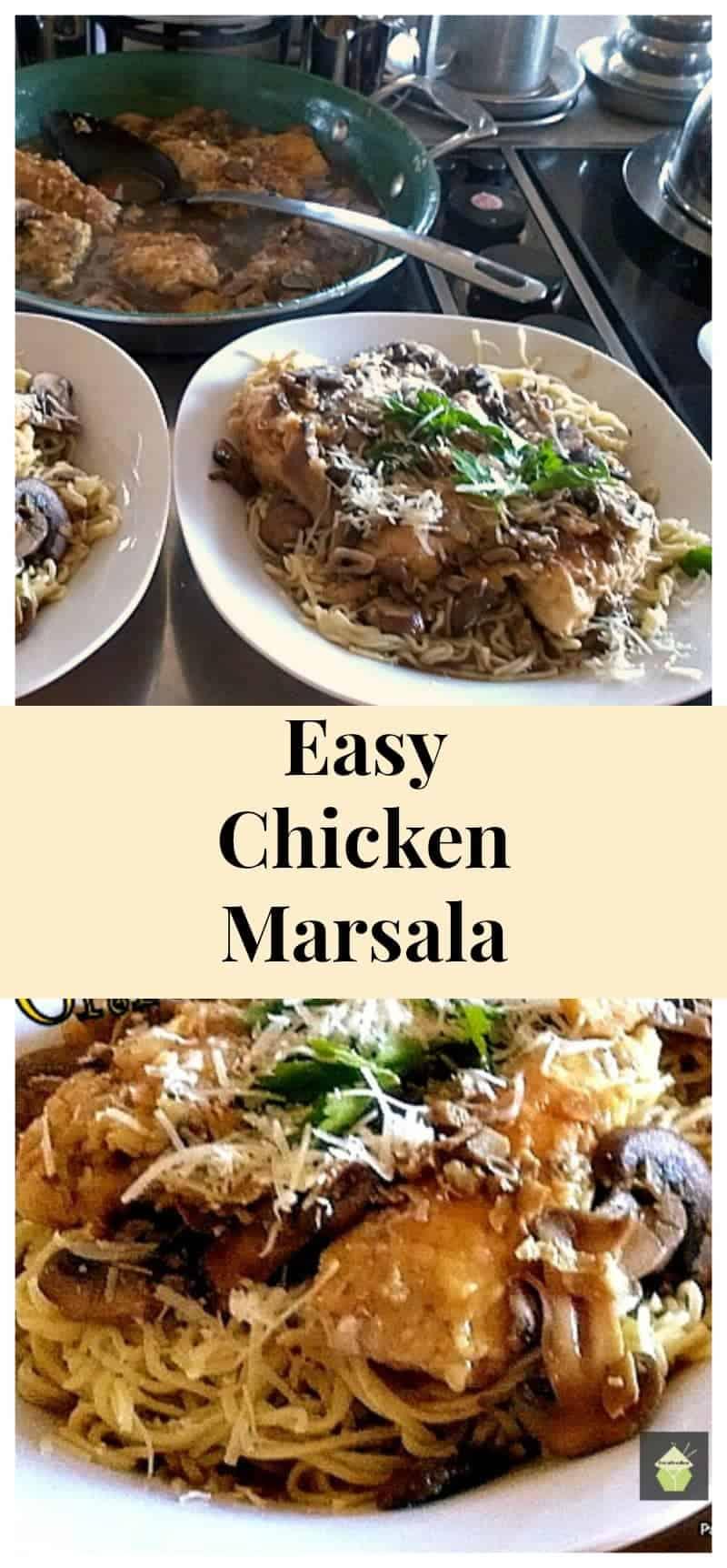 Chicken Marsala on a bed of Angel Hair Pasta!