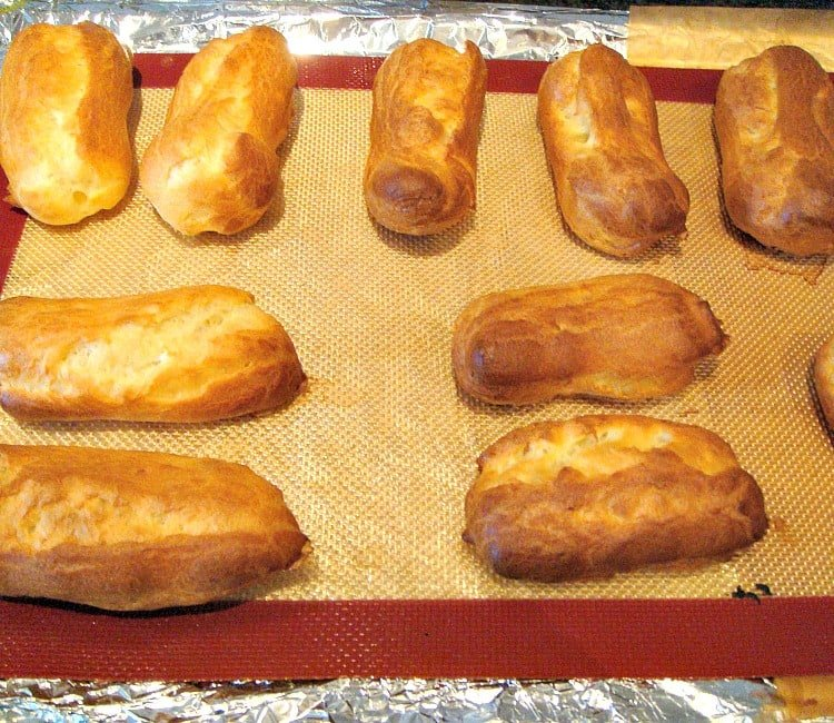 Cream Filled Chocolate Eclairs - Easy to make and always great anytime!