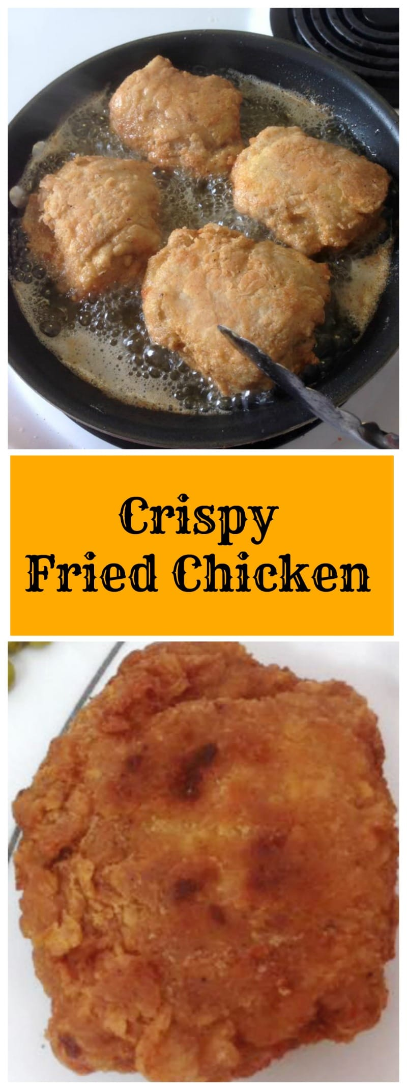 Crispy Fried Chicken, a delicious recipe with a lovely seasoning mix to give you THE BEST Fried Chicken in town!