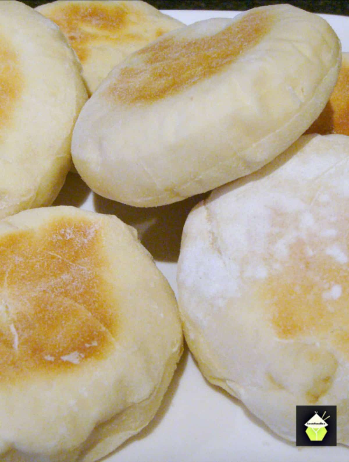 Delicious English Muffins Delicious English bread recipe, often eaten for breakfast. Serve warm with butter! You can eat these sweet or savory! Freezer friendly too! Simple recipe
