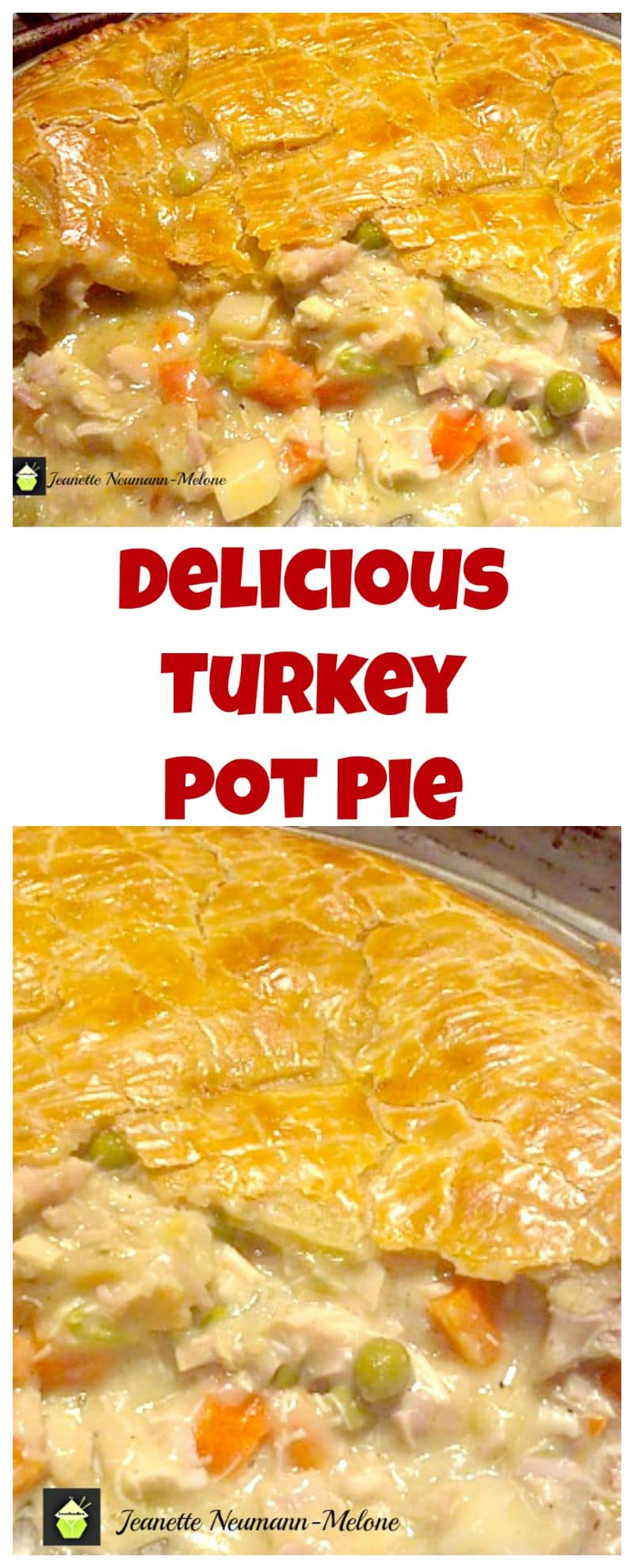 DELICIOUS Turkey Pot Pie, Look at that pie crust! I would also make this using chicken and ham together (great combo!) Oh my!