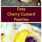 Easy Cherry Custard Pastries are perfect for serving at a tea party, or just to have for yourself! Easy to make and fun for kids to help too.