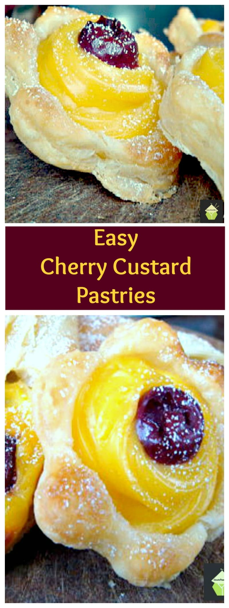 Cherry Custard Pastries | Lovefoodies