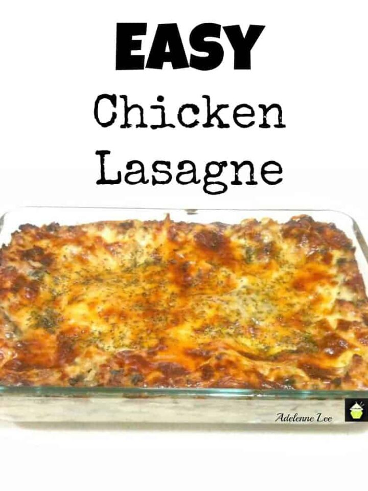 Easy Chicken Lasagne. A great quick and easy fuss free dinner, and always popular with the family!