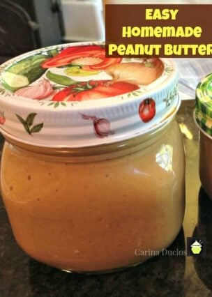 How to Make Homemade Peanut Butter - See the instructions, no additives, no oil, just pure peanut butter! Delicious!