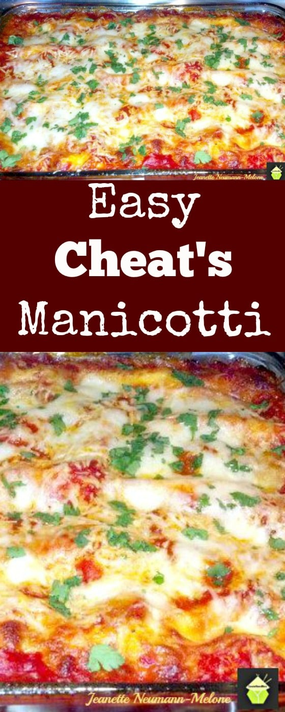 Easy Cheat's Manicotti - No more trying to stuff those pesky Manicotti tubes. Here's a quick and easy way to get a great tasting dinner| Lovefoodies.com