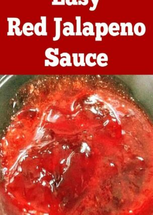 Easy Red Jalapeno Sauce - Great for dipping all your favorites in!