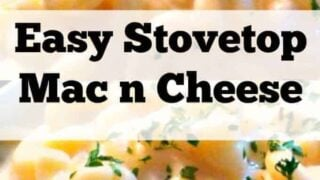 Easy Stovetop Mac n Cheese