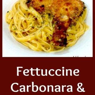 Fettuccine Carbonara and Cajun Chicken