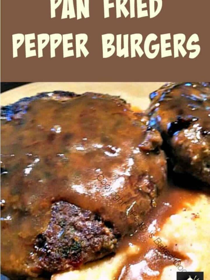 Home Made Pan Fried Pepper Burgers. A really great taste with a wonderful marinade. Pan fry or grill / BBQ.