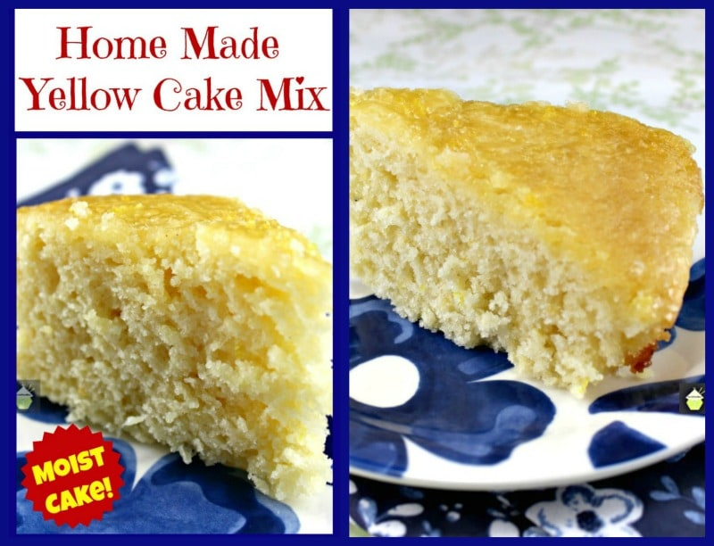 Home Made Yellow Cake Mix. This is a lovely substitute to the shop bought mixes and gives you a soft, moist cake.