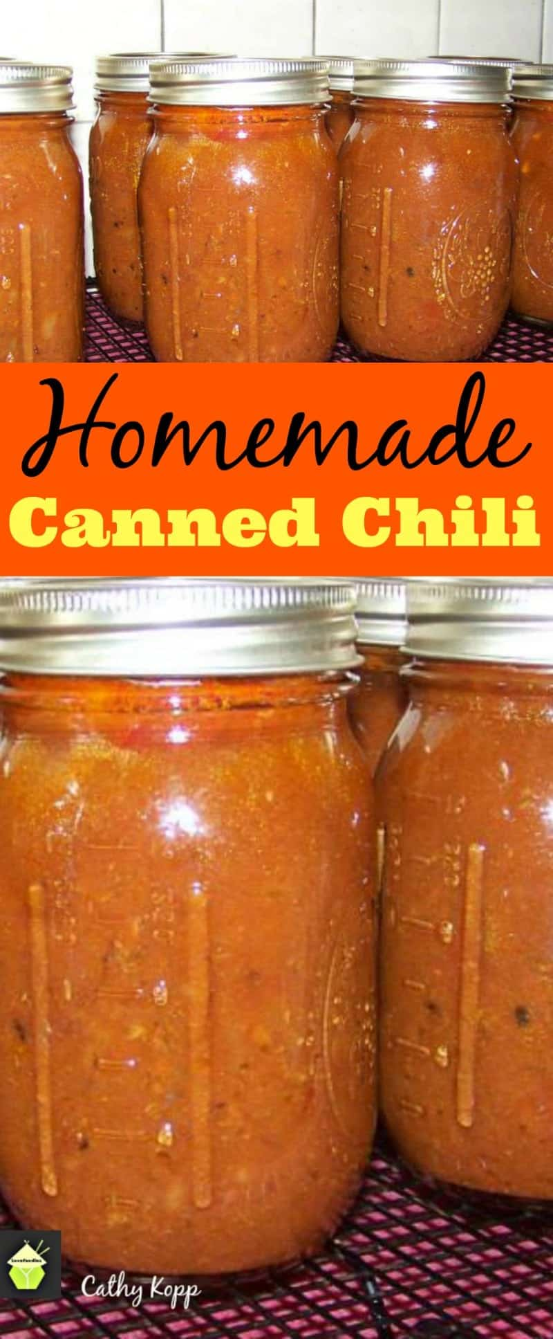 Homemade Canned Chili. A great way to get stocked up, handy for camping or when you just don't have time to cook!