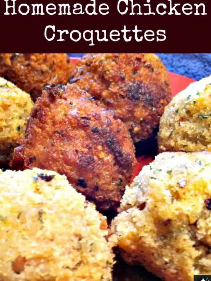 Homemade Chicken Croquettes - Plain and chipotle. You choose. Serve as an appetizer or entree, with your favorite sauce!