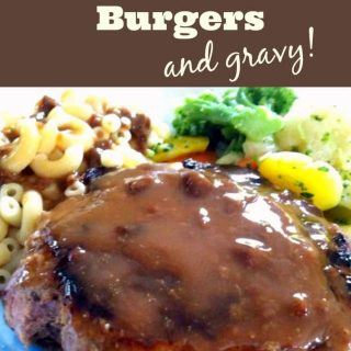 Homemade Chunky Zesty Burgers - With a wonderful quick marinade, makes for a great tasting burger, and did I mention the gravy?... To DIE FOR!