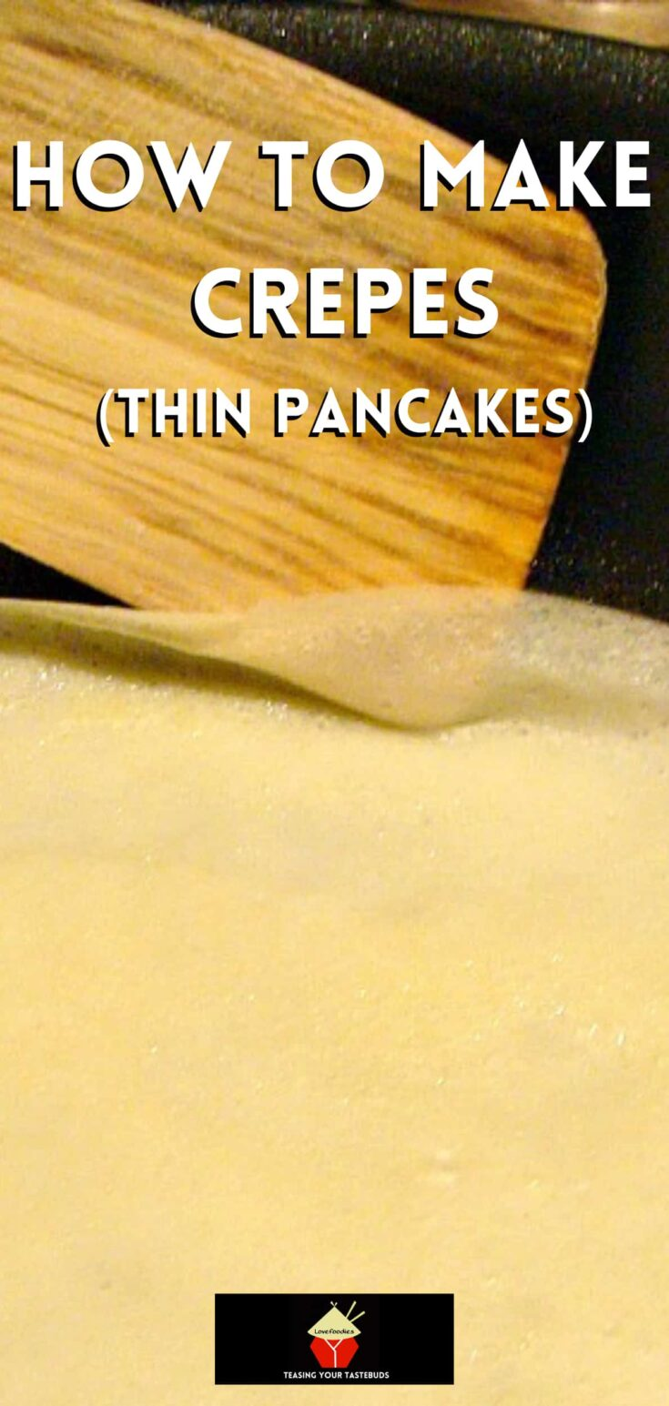 How To Make Crepes or Thin Pancakes. P1