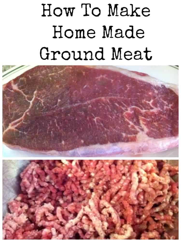Here's a very easy guide for how to make your own home made ground meat. This way you know exactly what goes in your ground meat!