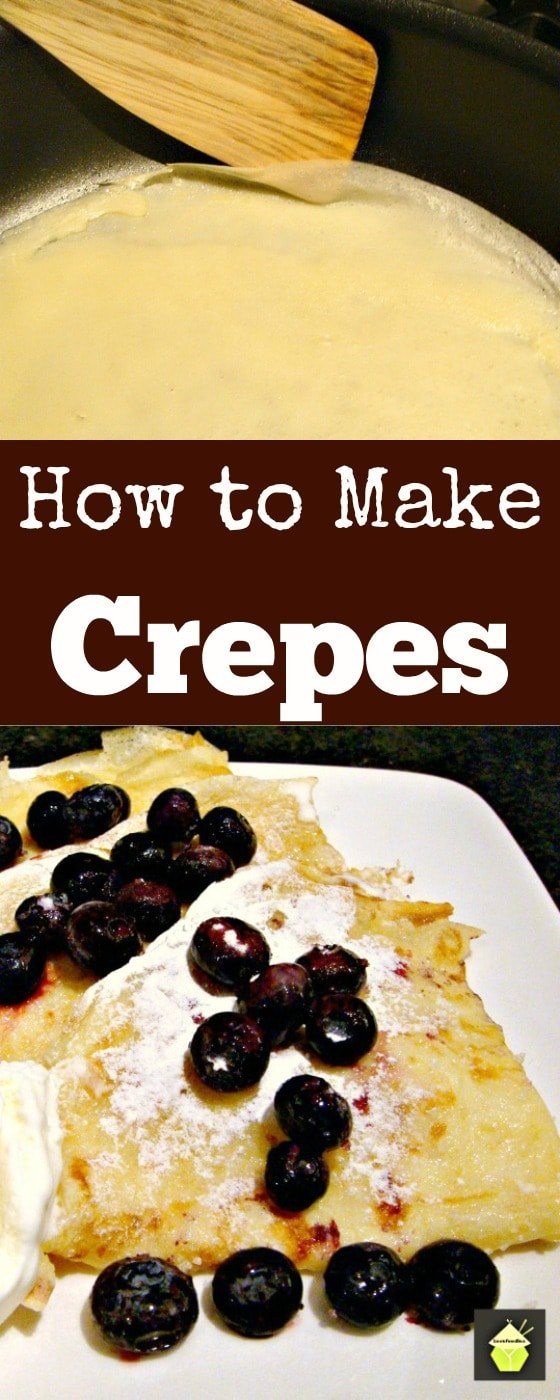 How to Make Crepes (Thin Pancakes) Quick & Easy guide with lots of filling suggestions too! Great if you need a 'quick fix' dessert too! | Lovefoodies.com