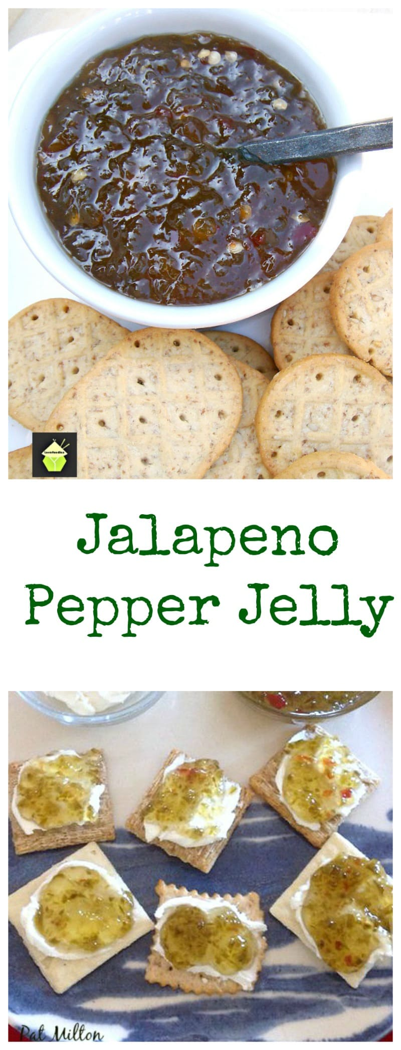 Nanny's Easy Jalapeno Pepper Jelly Great recipe and delicious served on crackers with cream cheese!