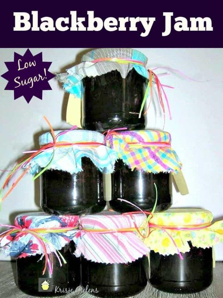 Low Sugar Blackberry Jam 4