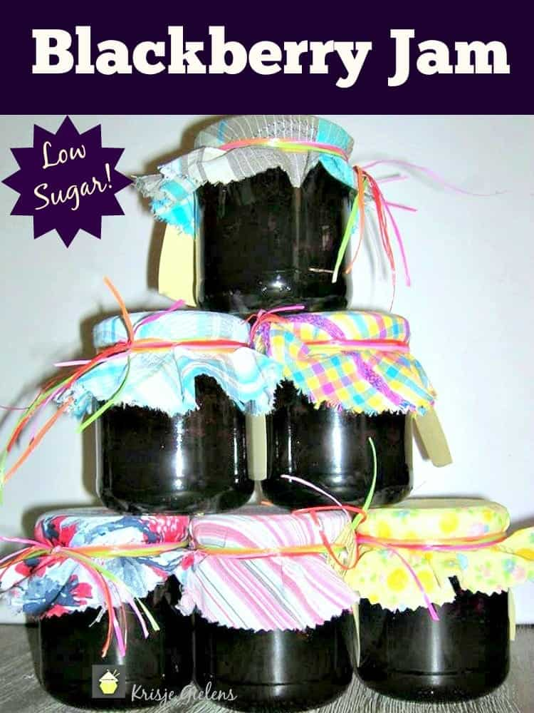 Low Sugar Blackberry Jam. Options for sugar free too! Easy to follow family recipe and delicious!