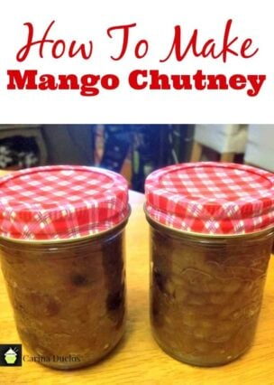 How To Make Mango Chutney. Easy instructions and goes great with cheese or cold cold cuts, use as a marinade or to have as a compliment for buffet foods, such as sausage rolls etc