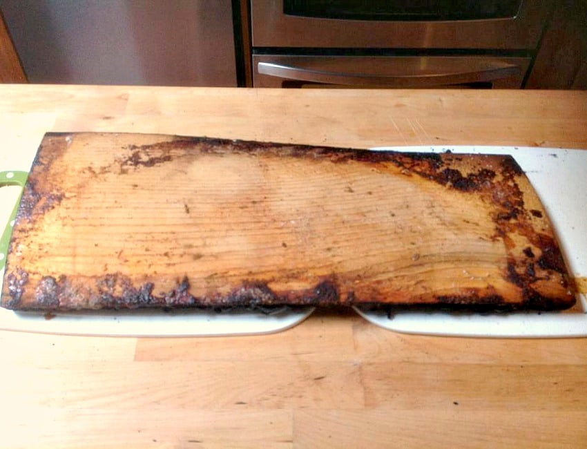 Maple Glazed Salmon on Cedar Wood - You can also use this same idea for chicken or pork. Also very delicious!
