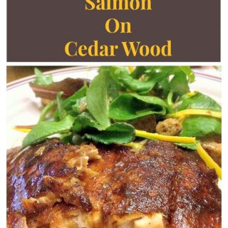 Maple Glazed Salmon on Cedar Wood