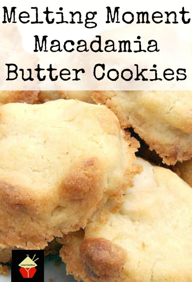 Melting Moment Macadamia Butter Cookies . These little cookies have a wonderful vanilla flavor and melt in your mouth. Easy to make! | Lovefoodies.com