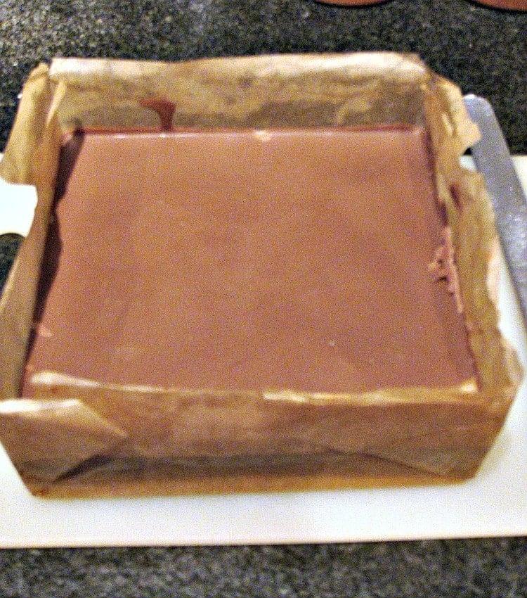 Millionaire's Caramel Shortbread , chocolate layer