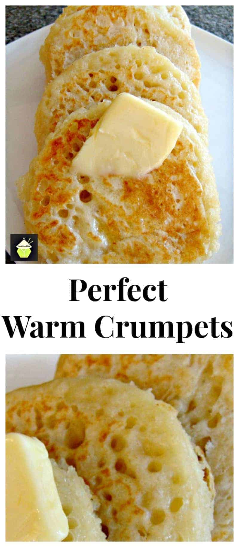Perfect Warm Crumpets - Great for breakfast or anytime! Serve with your favorite jam, or eggs and bacon, delicious whichever way you like them!