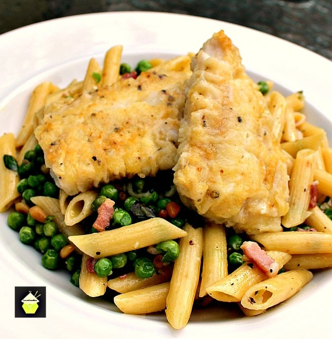 Cod With Bacon Pasta Dinner is a very quick and easy recipe, with great flavour.