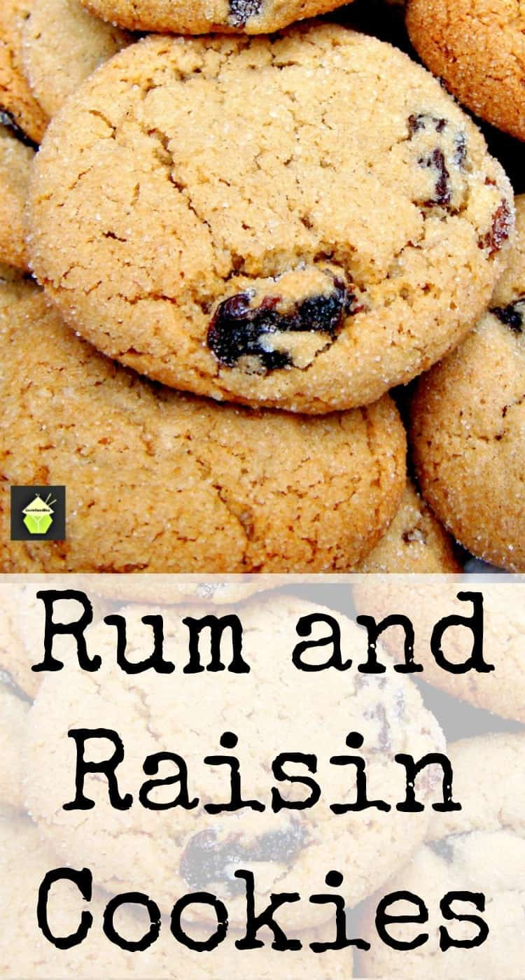 Rum, Orange and Raisin Cookies - A delicious flavor combo, crunchy on the outside and chewy on the inside!