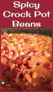 Crockpot Ham n Beans. You can eat this on it's own or with some delicious cornbread.....what would you have with this? So tasty!