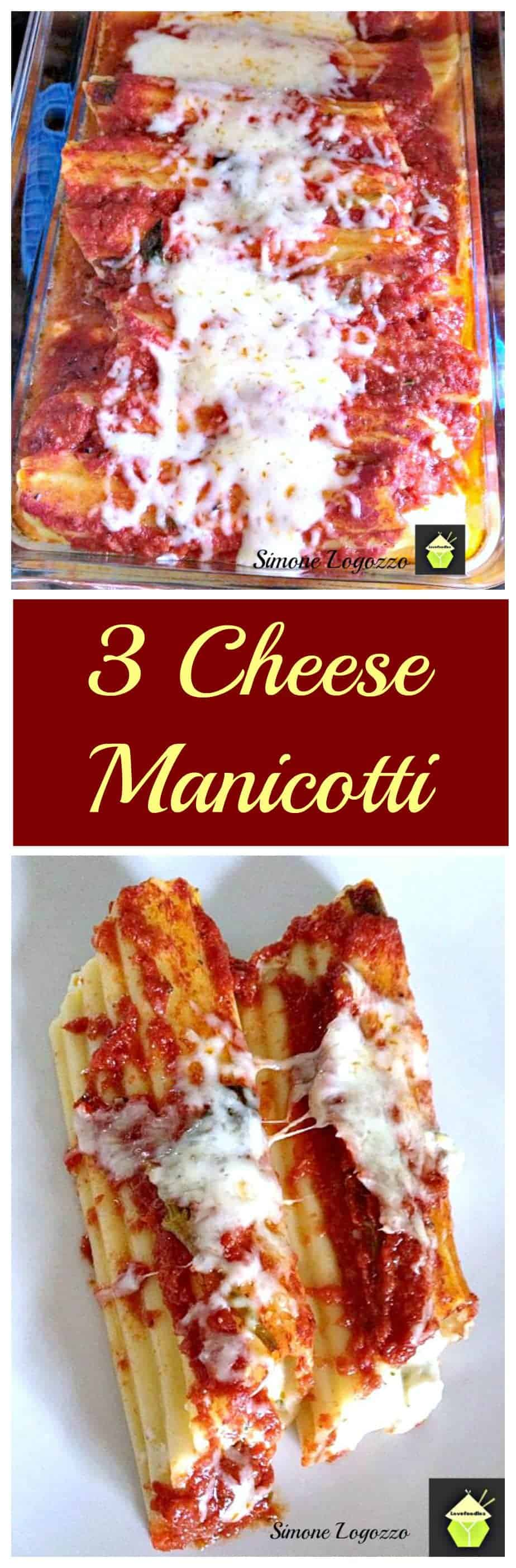 Three Cheese Stuffed Manicotti - A great tasting easy recipe and freezer friendly too! Perfect for busy families.