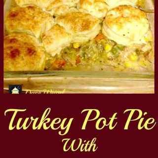 Turkey Pot Pie, great recipe and you can use biscuits or a pie crust. You choose! Perfect for left over turkey!