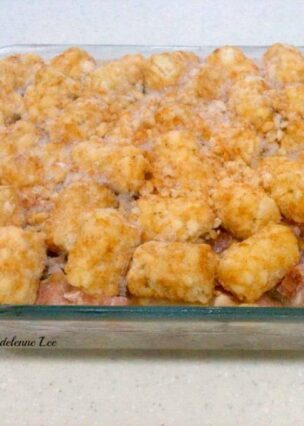 Cheesy Ham and Turkey Tater Tot Casserole. An easy casserole recipe loaded with cheese, leftover turkey, ham, hash browns and tator tots. Quick to prepare and makes a popular weeknight dinner.
