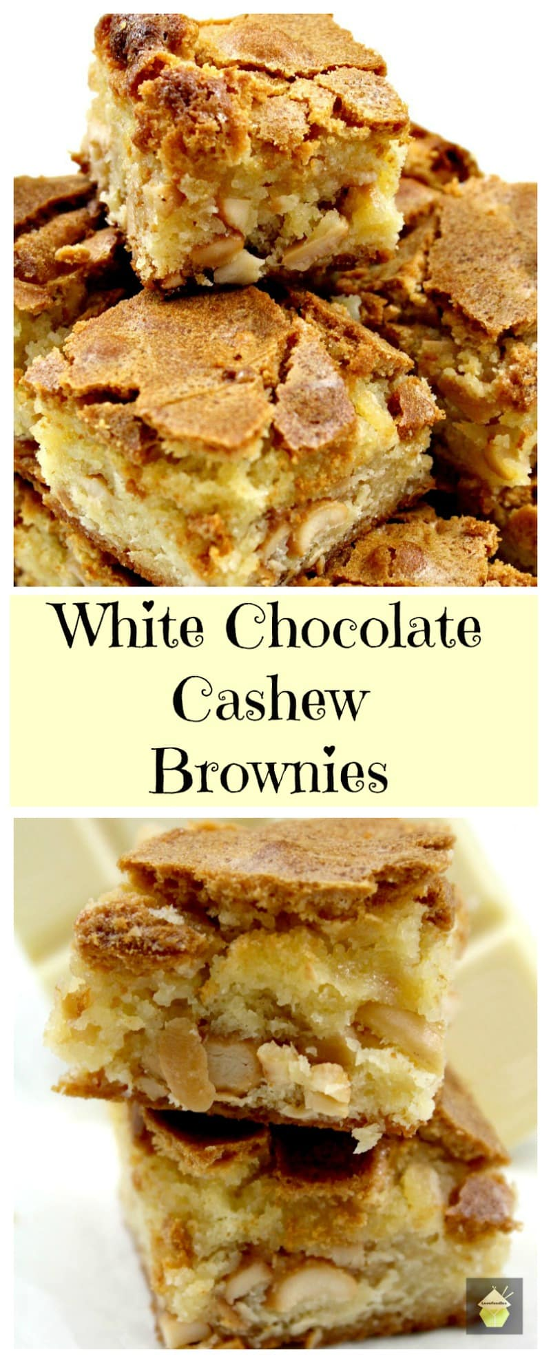 White Chocolate Cashew Brownies – Lovefoodies