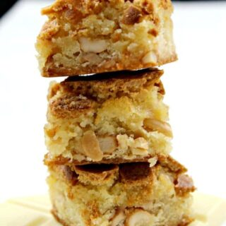White Chocolate Cashew Brownies