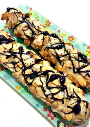 Almond Pastries. A perfect treat to have with a cup of tea!