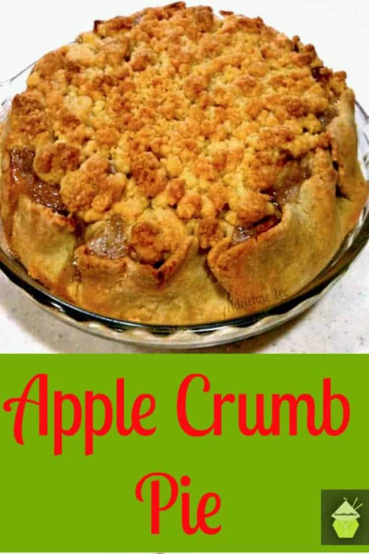 APPLE CRUMB PIE. Packed full of goodies, super easy recipe and so pretty too! This is really good served warm or cold with ice cream or whipped cream.