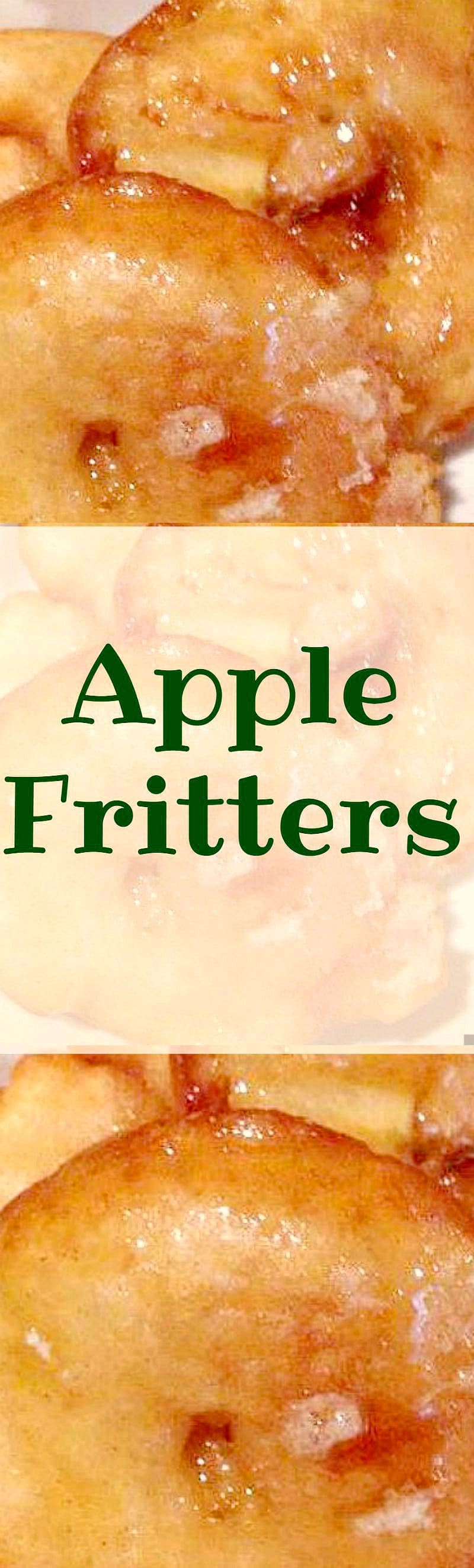 Apple Fritters! Oh boy! These are super easy to make and so delicious. Serve warm with some syrup, ice cream, whipped cream, or all three!