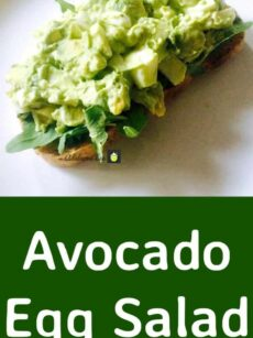 Avocado Egg Salad is a wonderful easy recipe and very quick to make. Serve as a salad in a bowl or with some crusty bread warm from the oven. Delicious! Great for brunch, lunch or supper or party food!