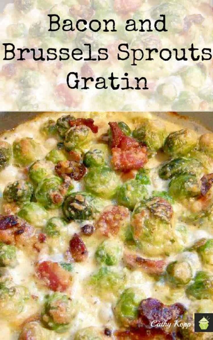 Bacon and Brussels Sprouts Gratin