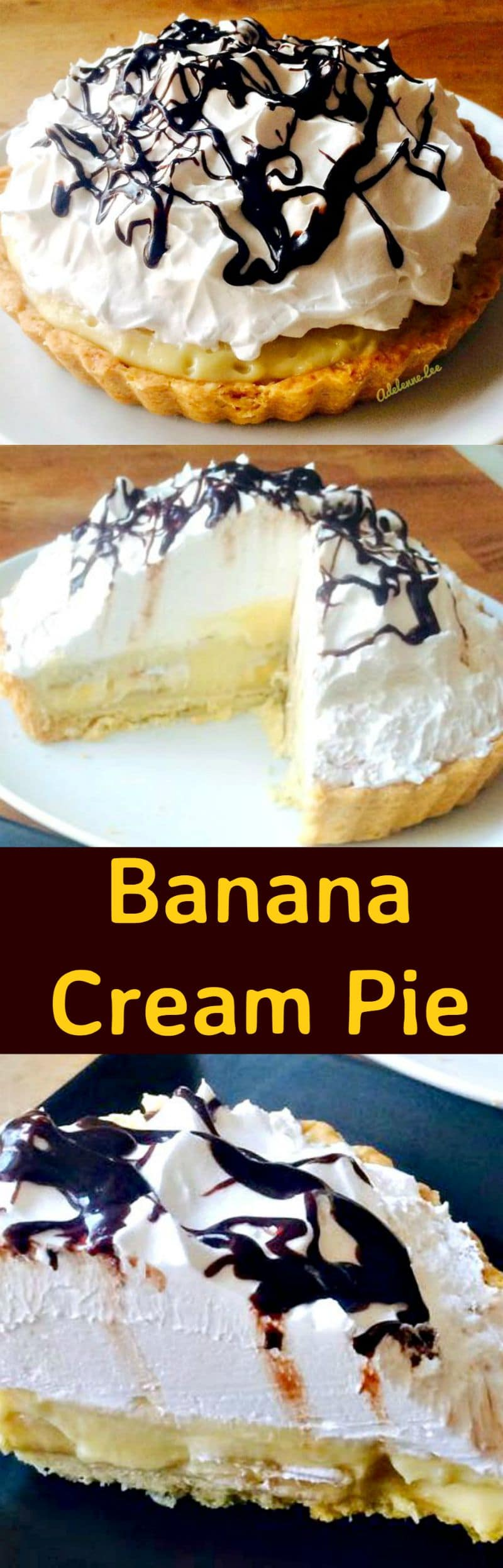 Banana Cream Pie, made from scratch, VERY easy and oh so delicious!