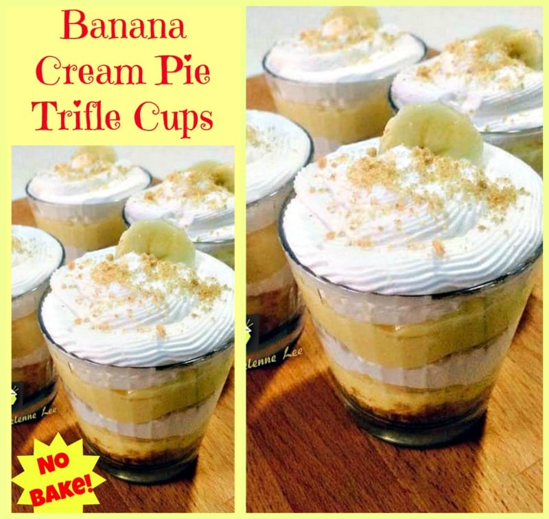 Banana Cream Pie Cups. A delicious no bake dessert and easy too!