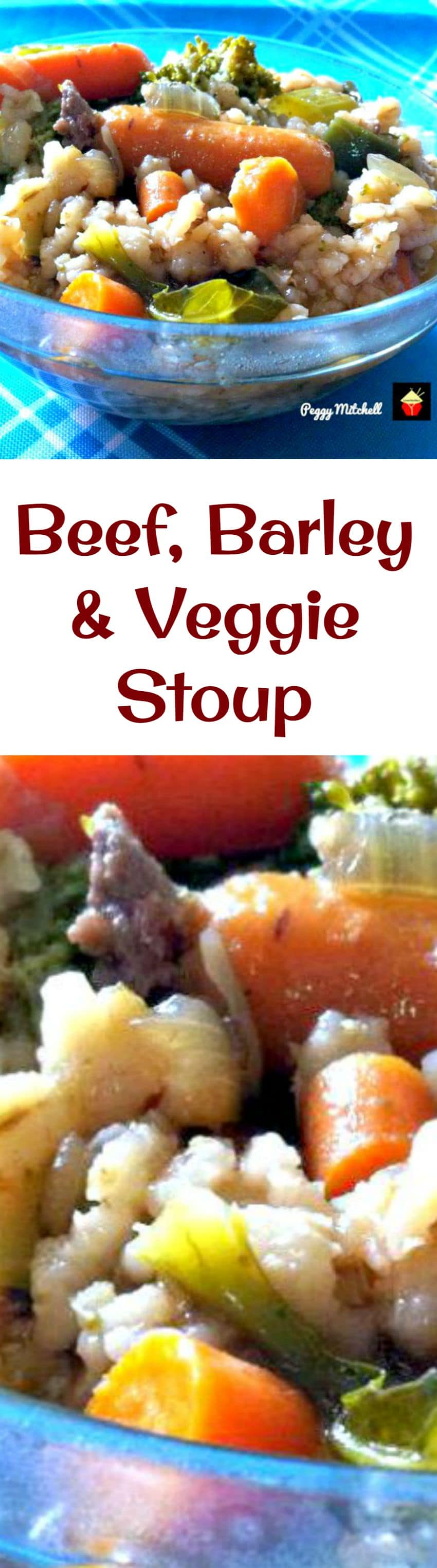 Beef, Barley and Veggie Stoup is a stew soup!  Full of lovely fresh ingredients and very easy to make. A real Winter warmer!