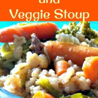 Beef, Barley and Veggie Stoup